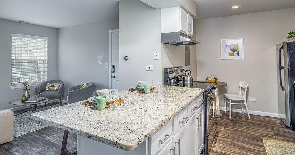 Windscape of Naperville Apartments offers a natrually well-lit kitchen in Naperville, IL