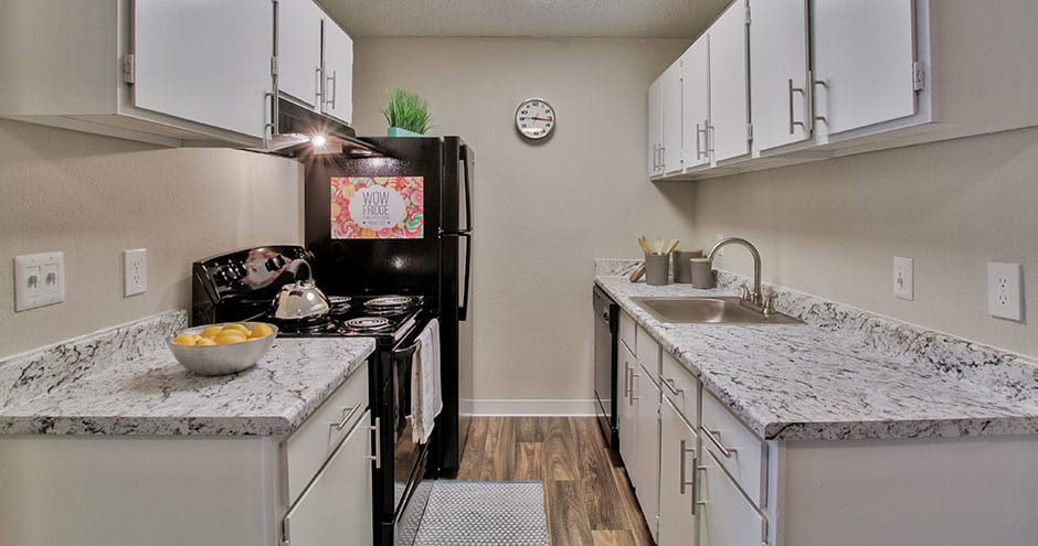 Kitchen at apartments in Wichita, KS