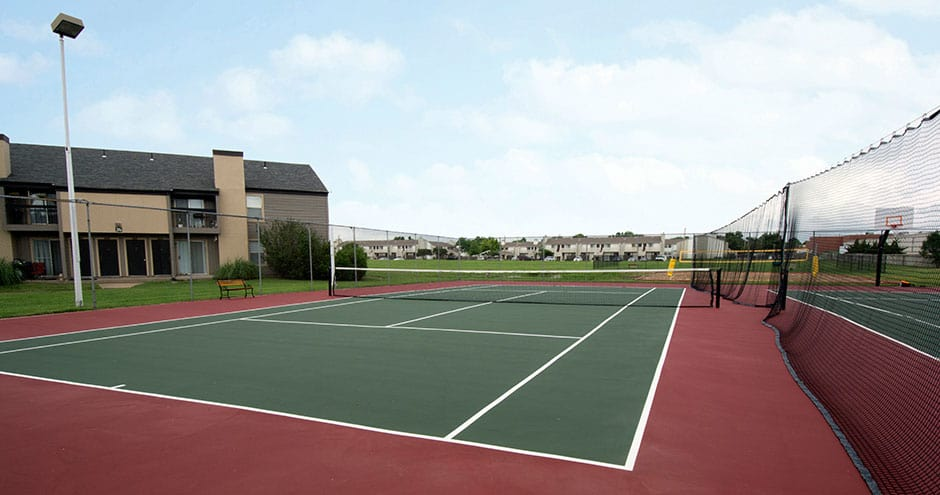 Tennis court at Sundance Apartments in Wichita, KS
