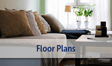 Spacious floor plans at the apartments for rent in Waukegan