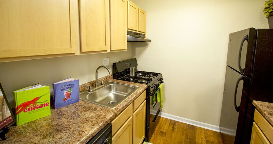 Quiet kitchen at Prentiss Creek at Downers Grove in Downers Grove, IL