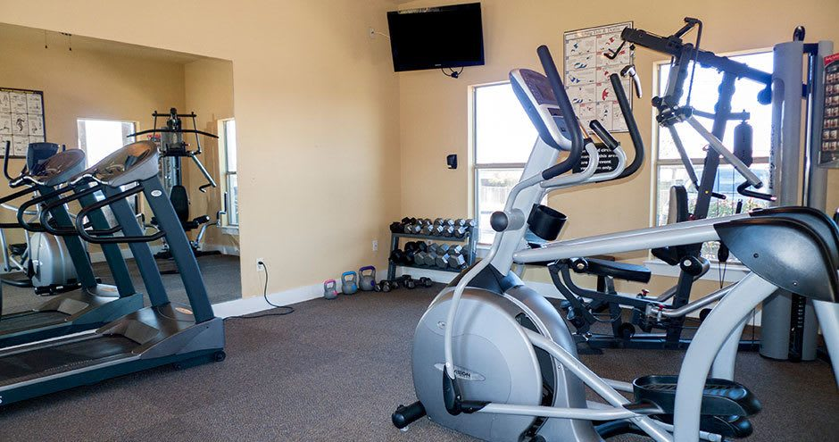 Fitness center at Republic Woodlake in San Antonio, TX