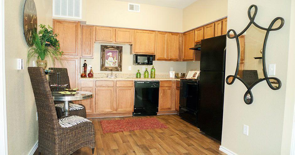 Kitchen at apartments in San Antonio, TX
