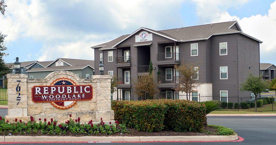 Entryway at Republic Woodlake in San Antonio, TX