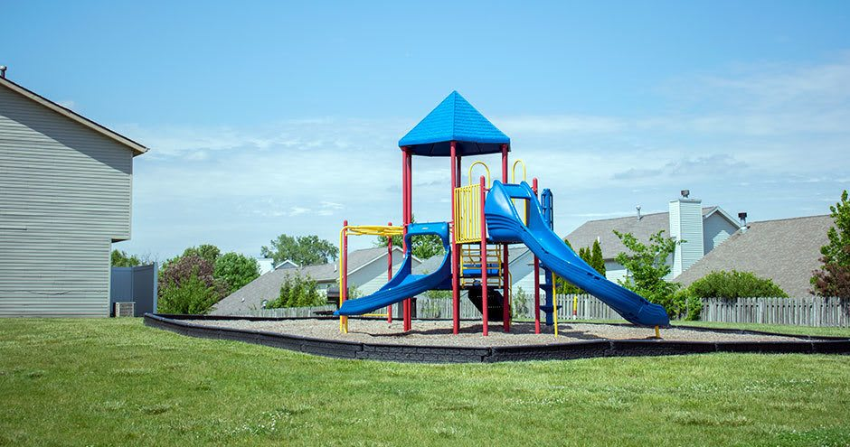 Carmel Landing offers a beautiful playground in Carmel, Indiana