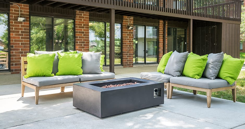 Modern bbq area at apartments in Naperville, IL