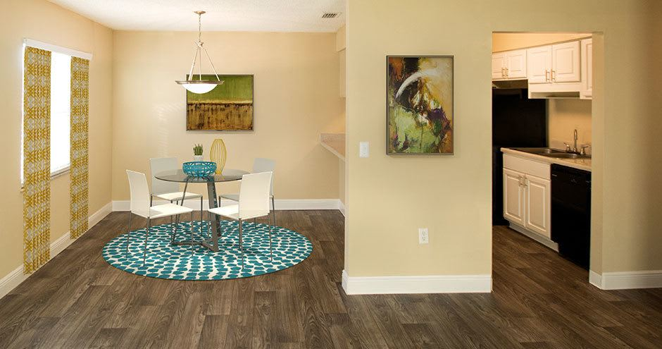 Enjoy a dining room at Promenade at Uptown spacious apartments