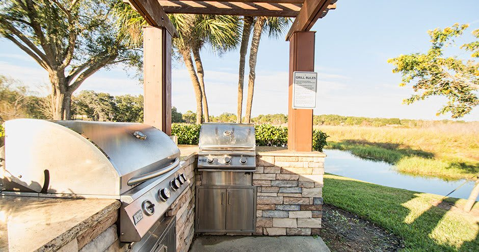 Beautiful bbq area at Promenade at Uptown in Altamonte Springs, FL