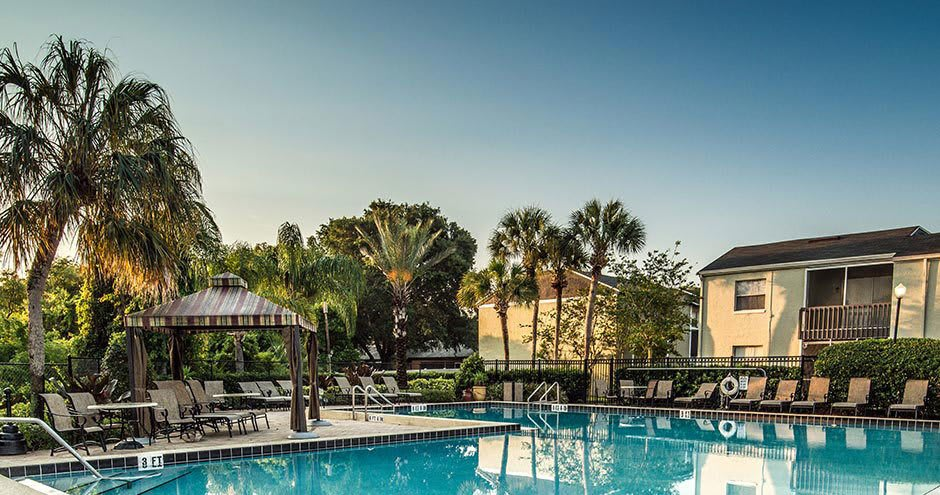 Swimming pool at apartments in Altamonte Springs, FL