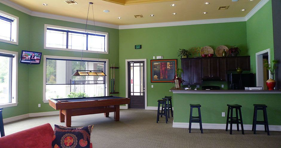 Game room at Stoneleigh on Kenswick Apartments in Humble, TX