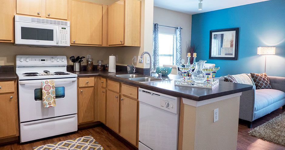 Apartments with a kitchen