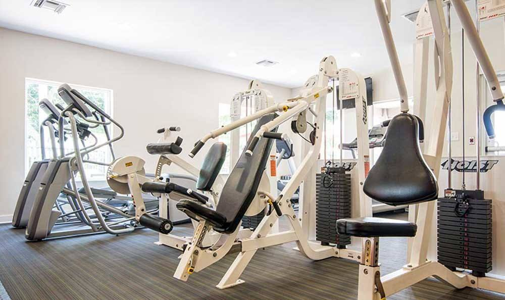 Modern fitness center at Pavilions at Deer Chase in Deerfield Beach, Florida