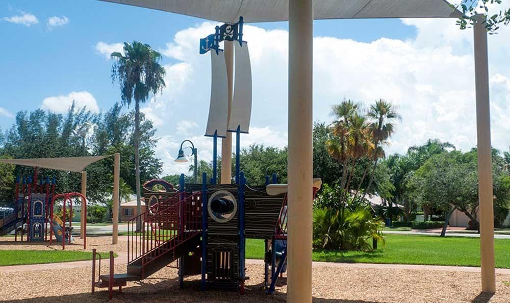 Spacious playground at Pavilions at Deer Chase in Deerfield Beach, Florida