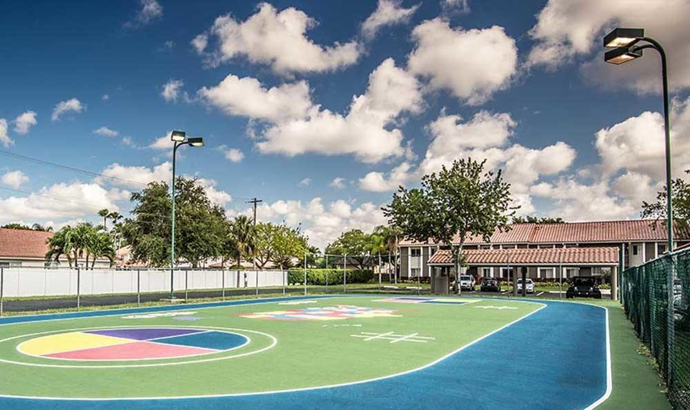 Jogging track at Pavilions at Deer Chase in Deerfield Beach, Florida