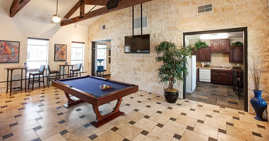 Beautiful game room at The Villages at Louetta in Spring, TX