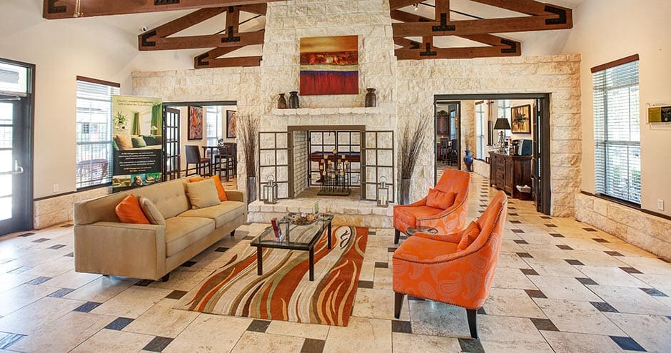 Luxury clubhouse at The Villages at Louetta in Spring, TX