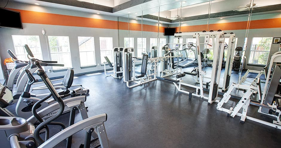 Apartments with a beautiful fitness center