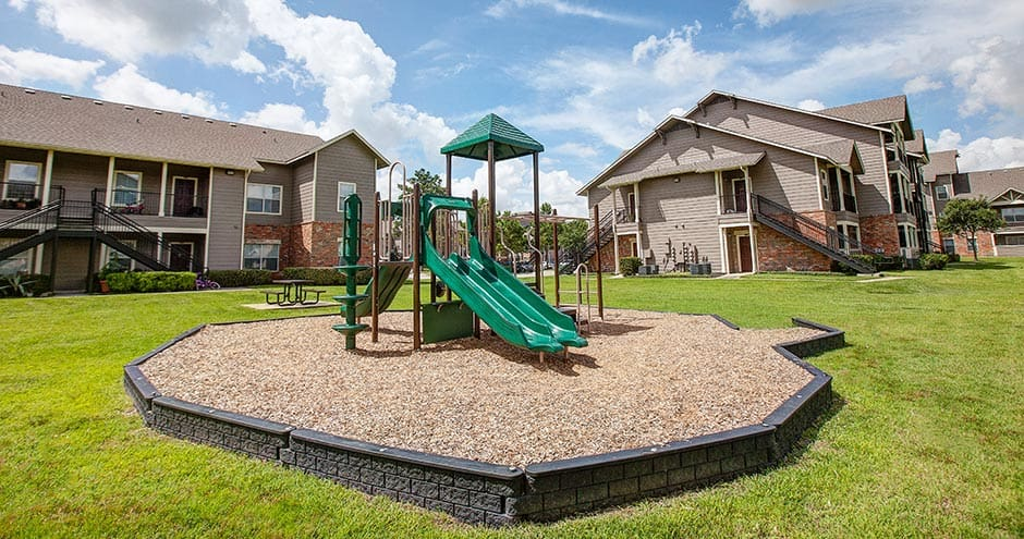 Spacious playground at The Villages at Louetta in Spring, TX