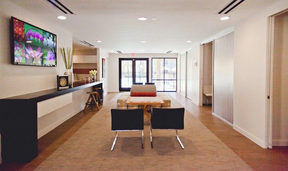 Spacious modern living room at The Ridge.