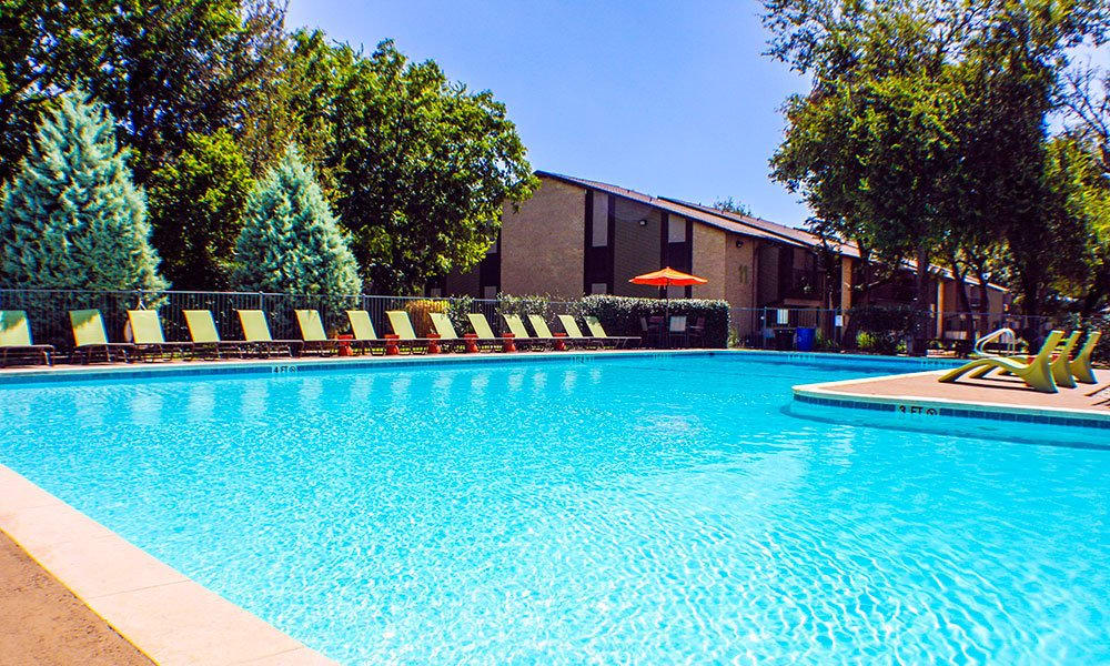 Beautiful swimming pool at apartments in Austin, TX