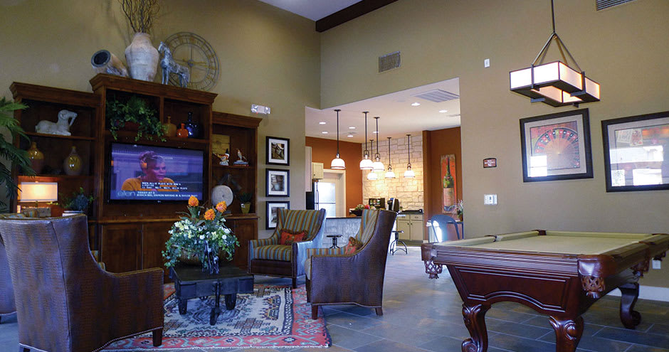 Clubhouse at Republic Deer Creek Apartments in Fort Worth, TX