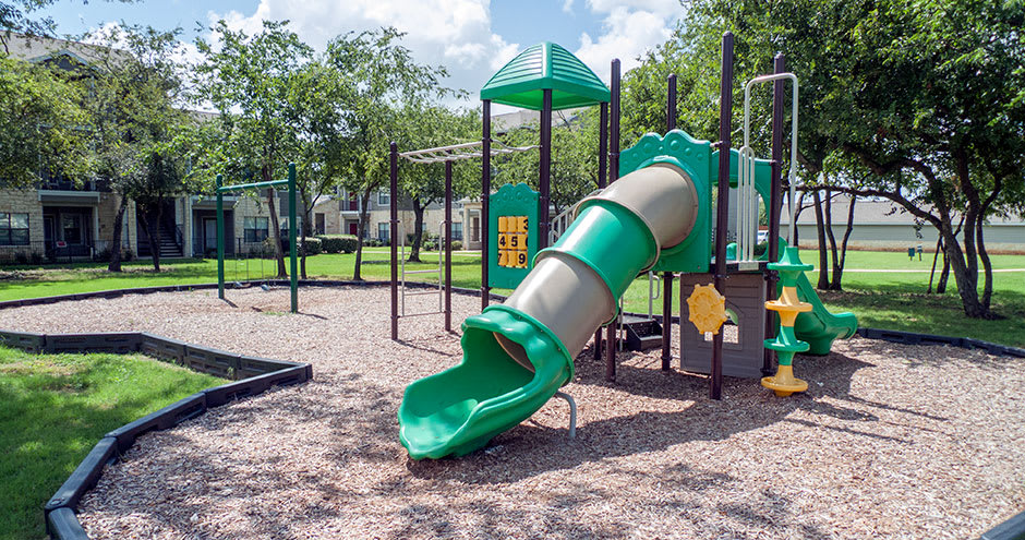 Beautiful playground at Republic Deer Creek Apartments in Fort Worth, TX