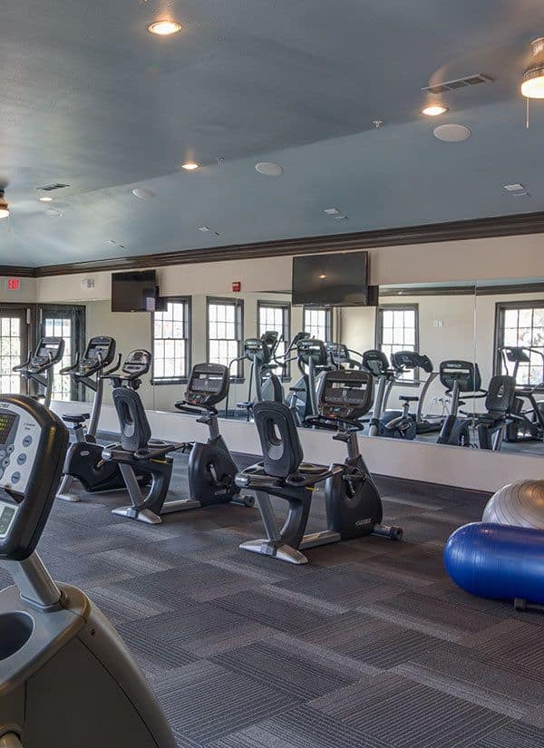 Fitness Center at apartments in Carrollton, TX