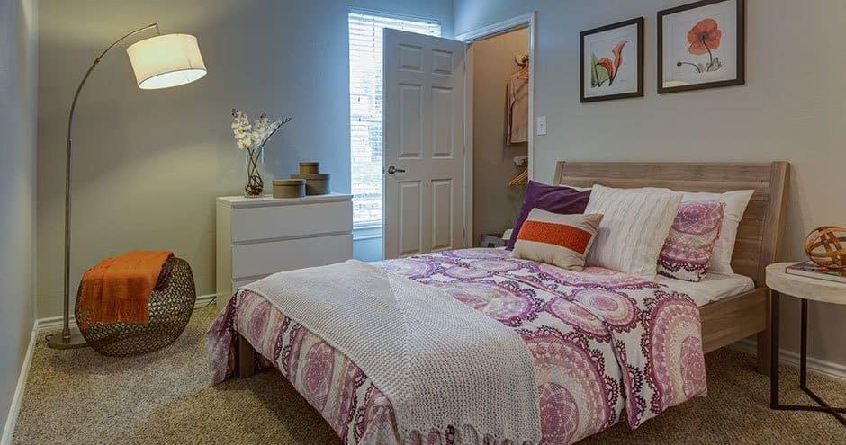 Enjoy a beautiful bedroom at Bella Vida at Coyote Ridge