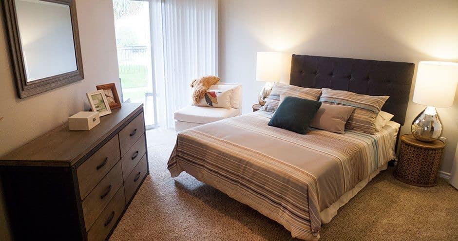 Enjoy apartments with a unique bedroom at Bella Vida at Coyote Ridge