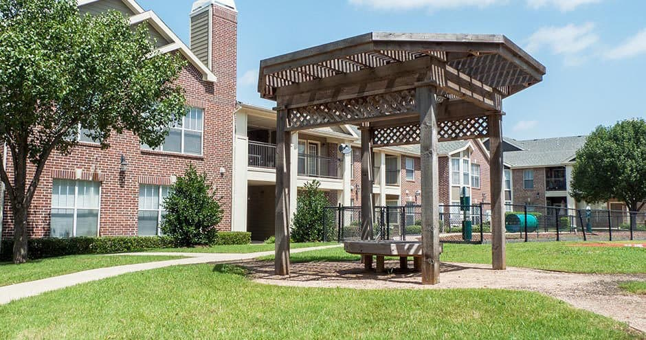 Our apartments offer a beautiful private patio at Bella Vida at Coyote Ridge