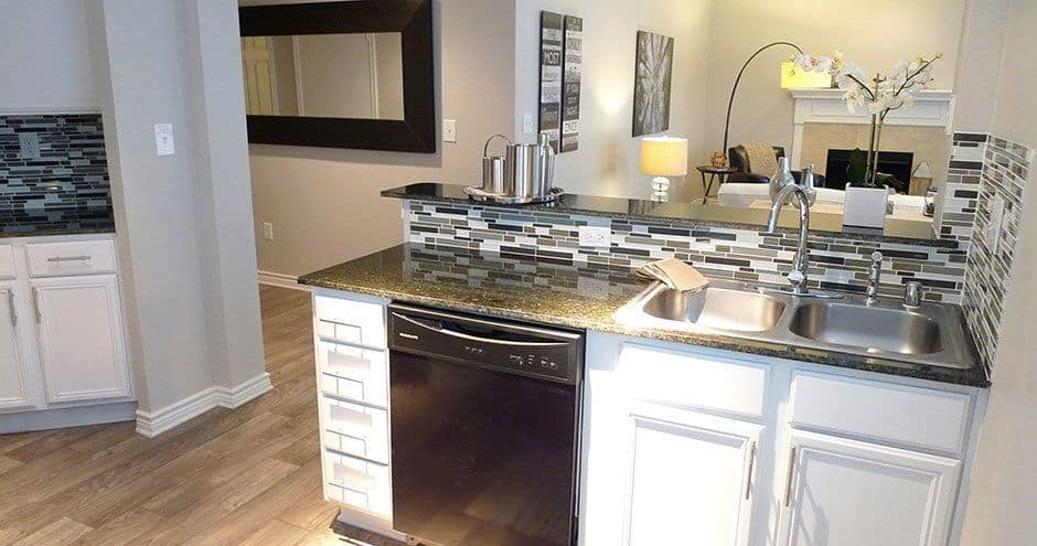 Beautiful stainless-steel appliances in our Carrollton, Texas apartments