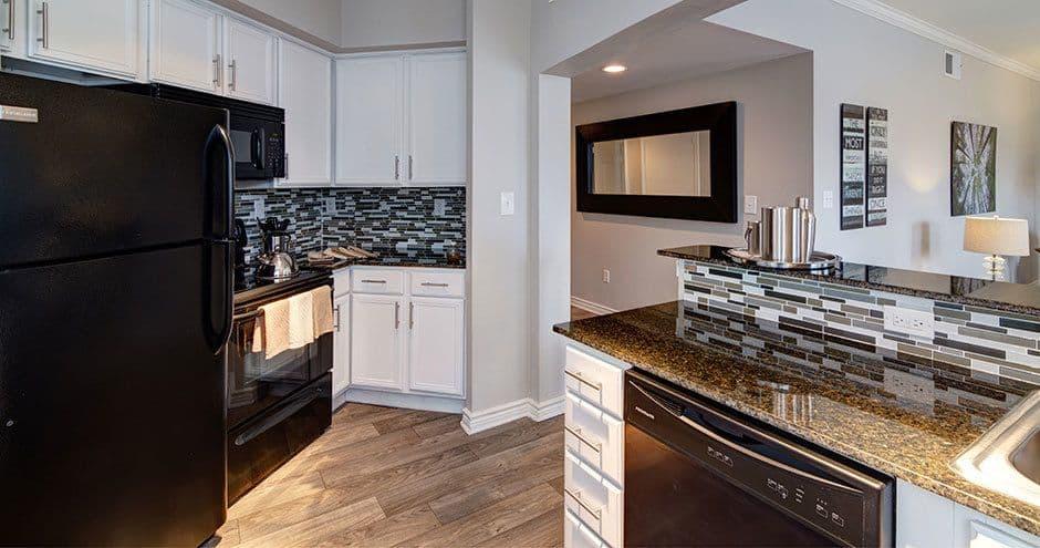 Luxury kitchen at apartments in Carrollton, Texas
