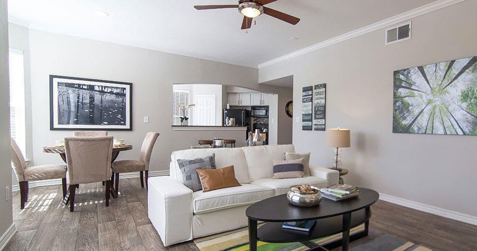 Enjoy a luxury living room at Bella Vida at Coyote Ridge