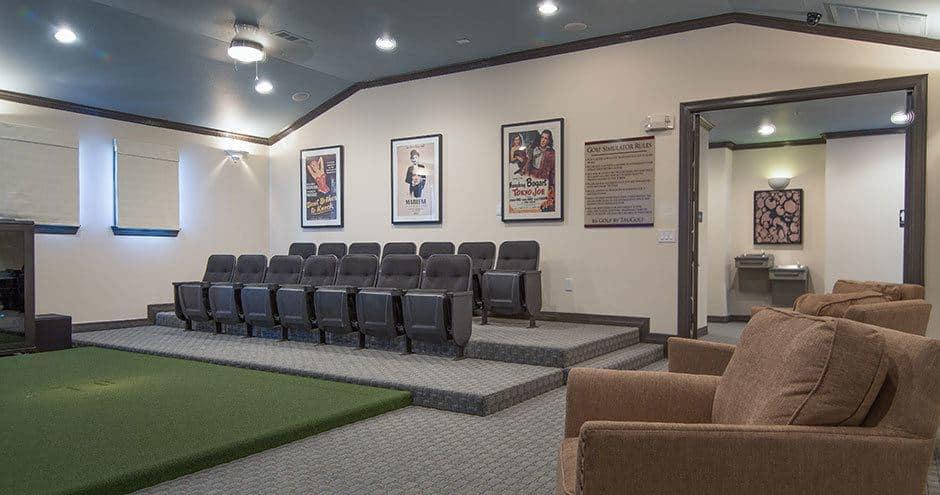Beautiful home theater design atBella Vida at Coyote Ridge in Carrollton, Texas