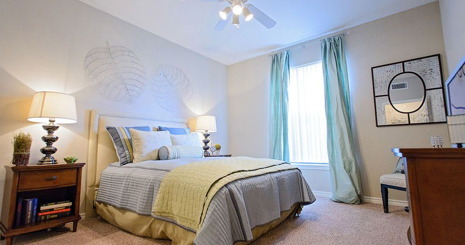 Spacious bedroom at Bristol Place Apartments in Baton Rouge, Louisiana