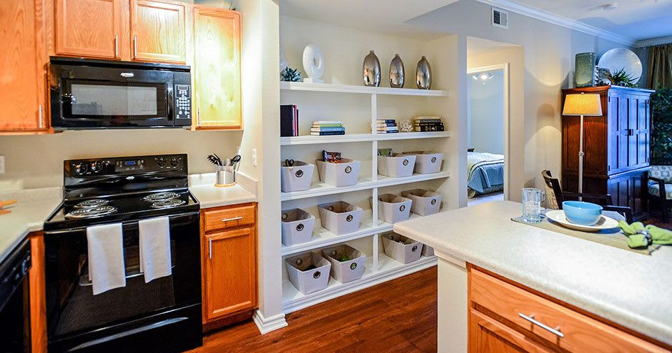 Spacious kitchen at Bristol Place Apartments in Baton Rouge, Louisiana