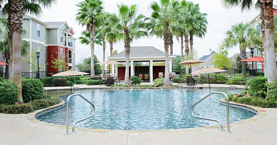 Enjoy a swimming pool at our beautiful townhomes