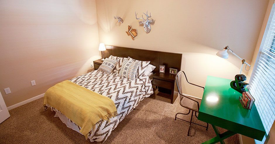 Bedroom at Hawthorne Ridge Apartments in Conroe, Texas