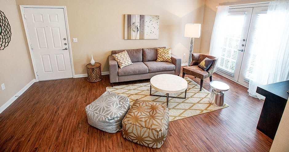 Our apartments in Conroe, TX showcase a beautiful living room