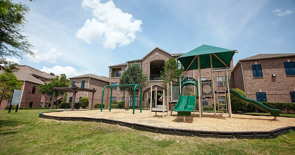 Spacious playground at apartments in Conroe, Texas
