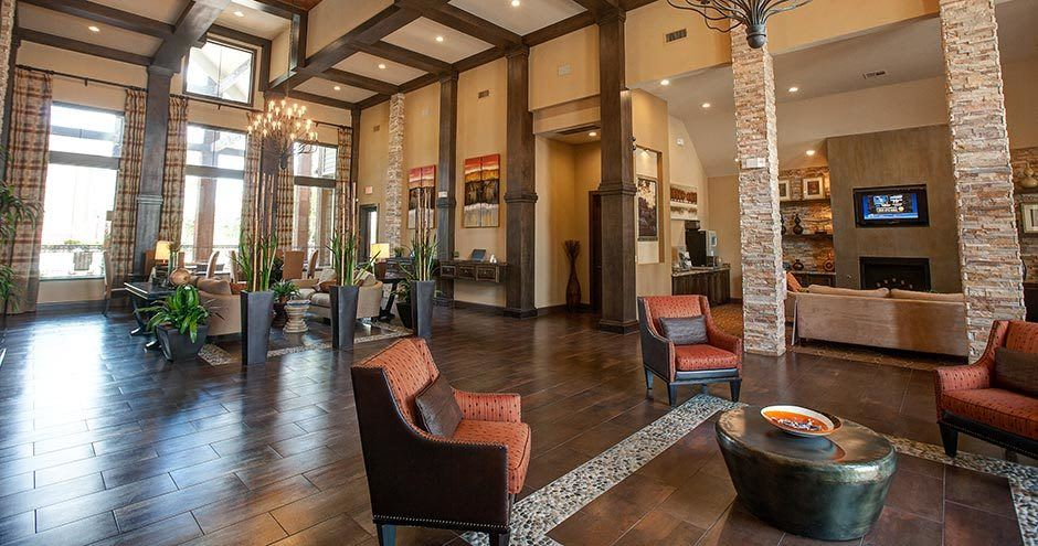 Spacious living room at apartments in Houston, Texas