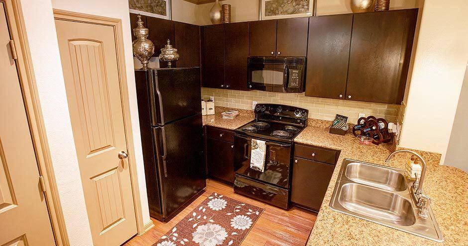 Luxury kitchen at Northgate Oaks Apartments in Houston, Texas