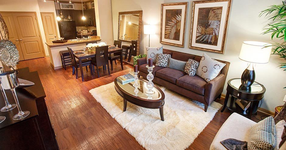 Luxury living room at Northgate Oaks Apartments in Houston, Texas
