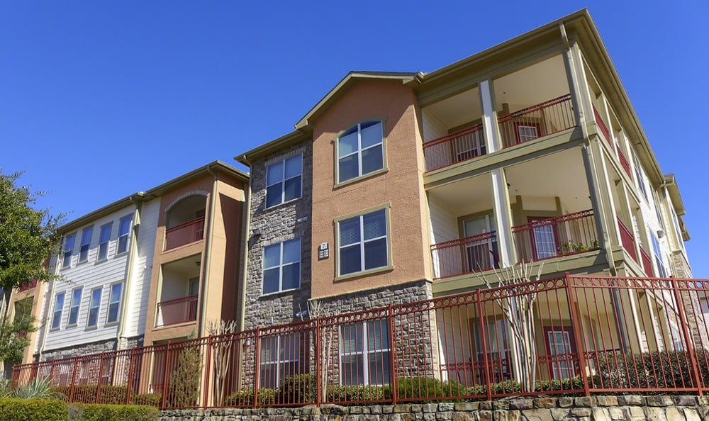 Apartment exterior at The Fountains of Conroe.