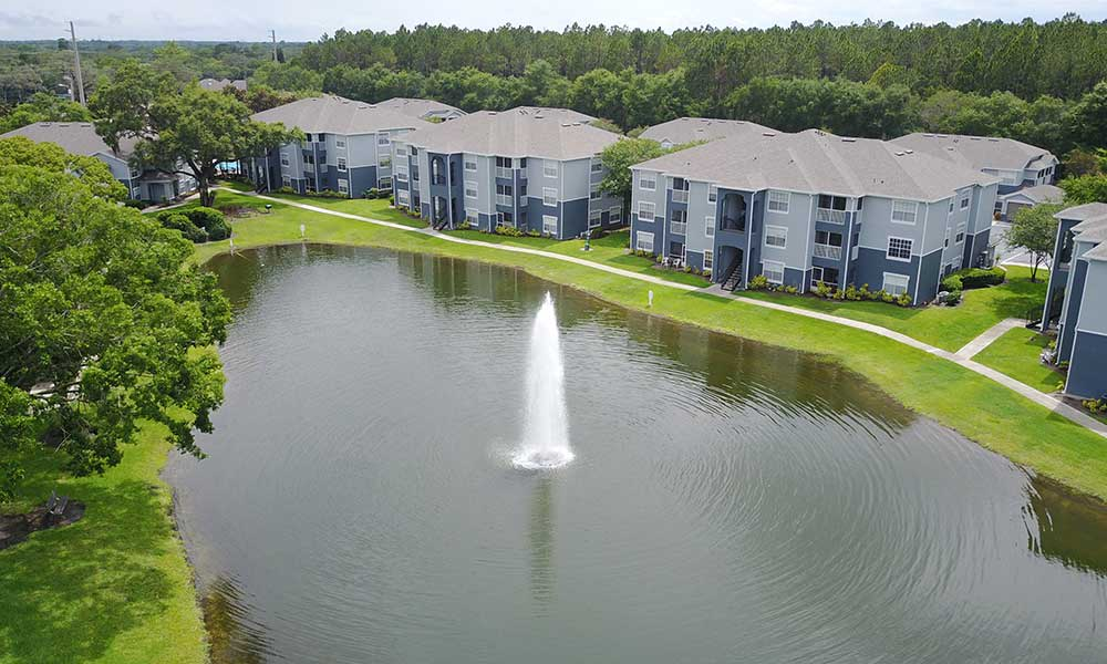 Beatuful lake at Promenade at Aloma in Oviedo, Florida