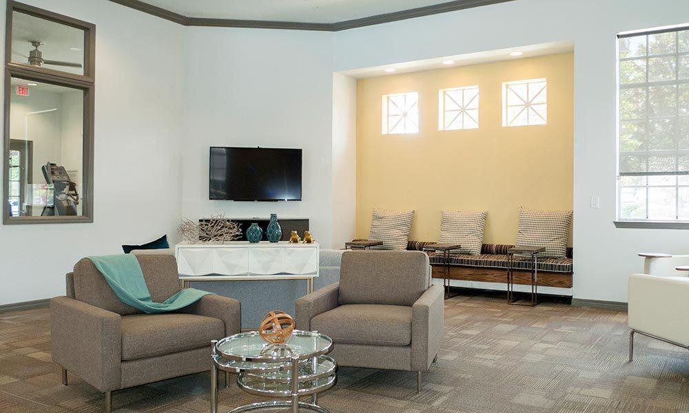 Beautiful living room at Promenade at Aloma in Oviedo, Florida