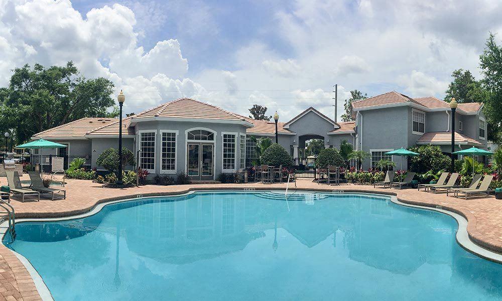 Beautiful swimming pool at Promenade at Aloma in Oviedo, Florida