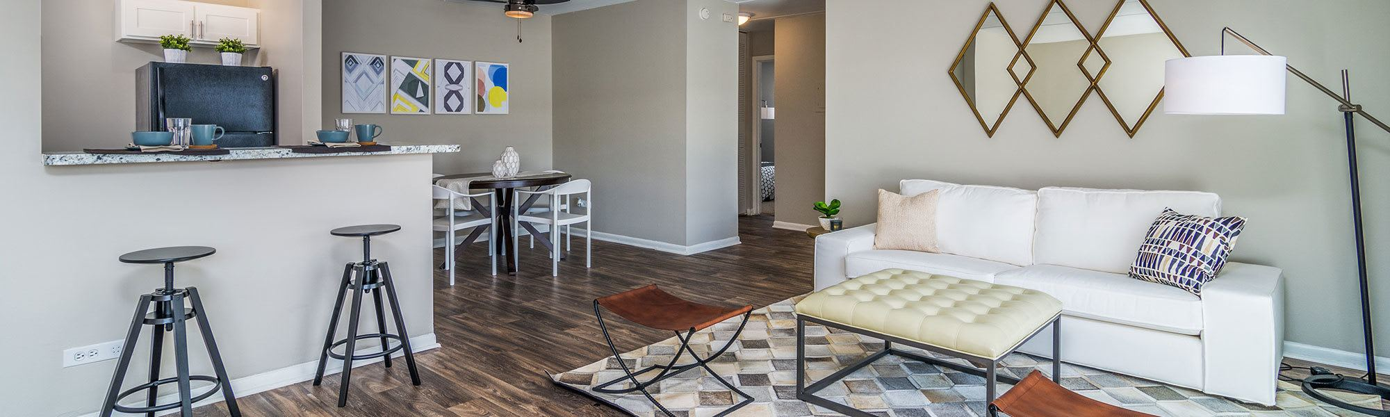 Spacious floor plans at the apartments for rent in Westmont