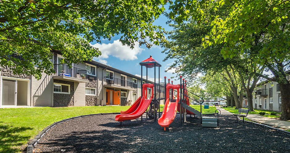 Our apartments in Westmont, IL showcase a spacious playground