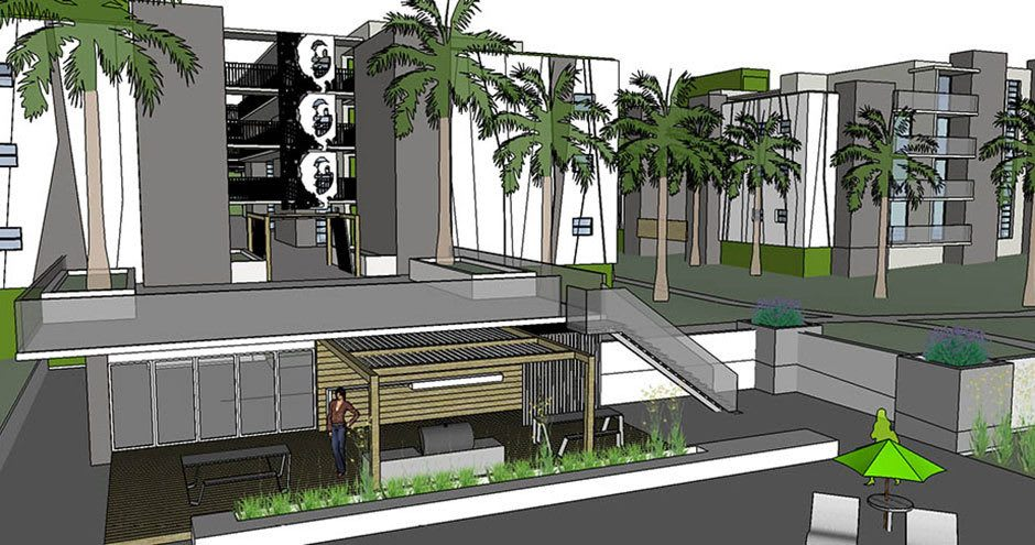 Rendering of apartments in Plantation
